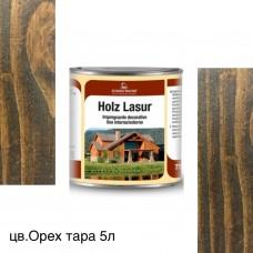 Пропитка для дерева HOLZ LASUR (тара 5л) цв. Орех (63)