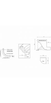 Карниз № 109 гнутый верхний (73*50,2)*(370*370) мм